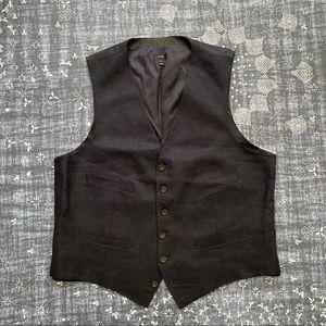 J. Crew Linen Suit Vest L